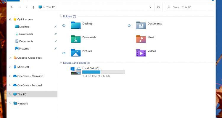 Windows 10 : l'Explorateur de Fichiers rajeunit grâce à de nouvelles icônes