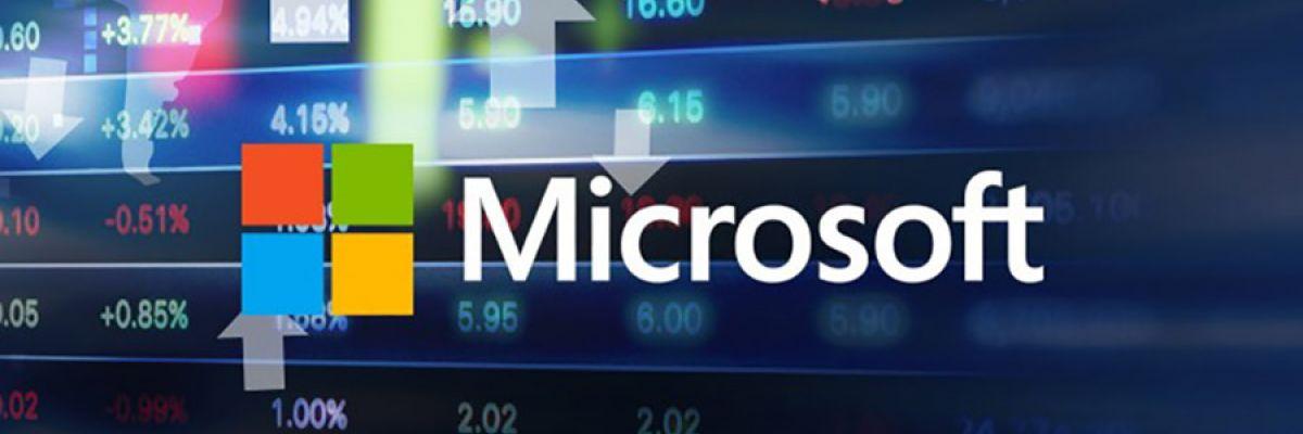 Microsoft est devenue brièvement une « One trillion-dollar company » (FY19Q3)