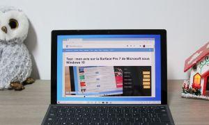 Test : mon avis sur la Surface Pro 7 de Microsoft sous Windows 10