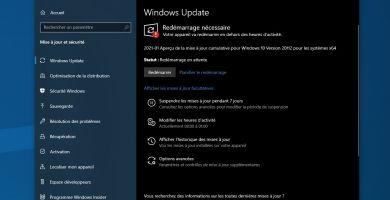 KB4601382 : une nouvelle mise à jour est disponible pour Windows 10