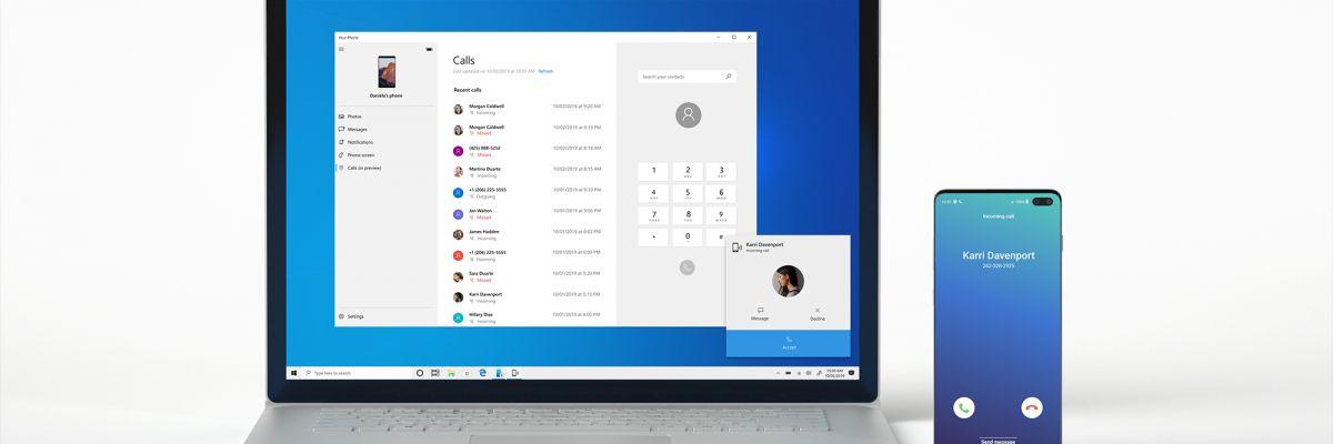 Passer un appel depuis son PC Windows 10 avec Android, c'est possible (Insider)
