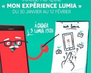 """""""Mon expérience Lumia"""" : trois Nokia Lumia 1520 à gagner"""