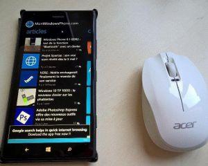[Exclu] Un Lumia 1520 et une souris Bluetooth sous Windows 10 TP, ça fonctionne!