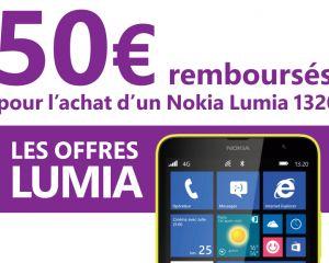 [Bon plan] 50€ remboursés pour l'achat d'un Nokia Lumia 1320