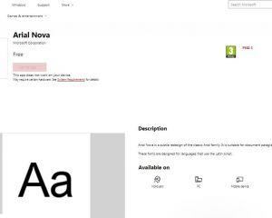 Les polices et packs de langue prochainement sur le Microsoft Store
