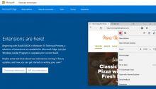 Microsoft Edge supportera les extensions Google Chrome