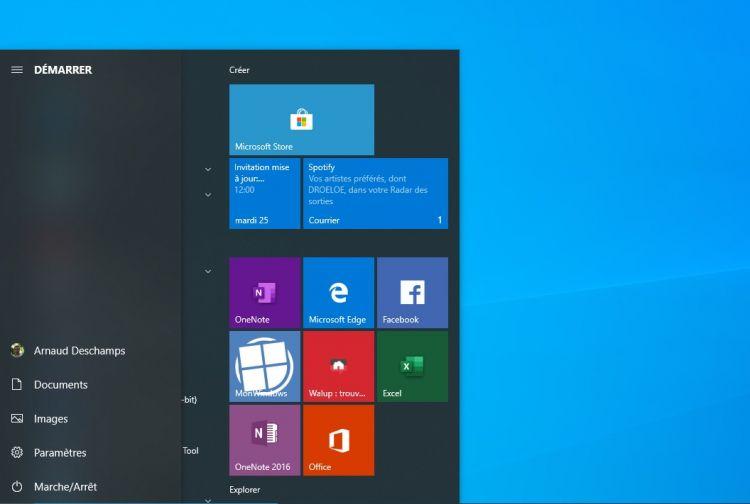 Bientôt la fin des tuiles carrées dans le Menu Démarrer de Windows 10 ?