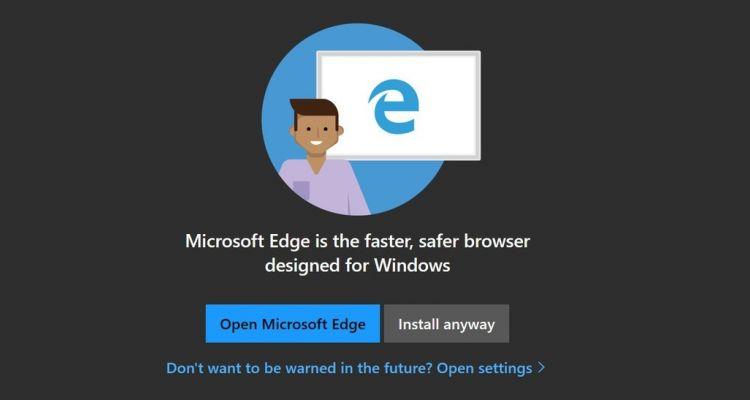[MAJ] Vous n'utilisez pas Edge ? Microsoft n'a plus de message pour vous !