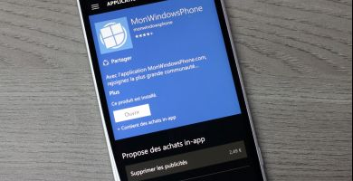​Mise à jour de l'application MonWindowsPhone en 4.1.1