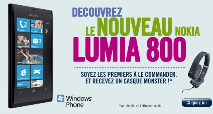 Prix du Nokia Lumia 800 : à partir de 99€ chez The Phone House [MAJ]