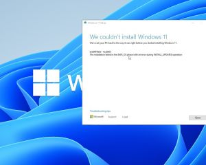 Contourner l'erreur 0x8007007f / 0x800f0830 lors de l'installation de Windows 11
