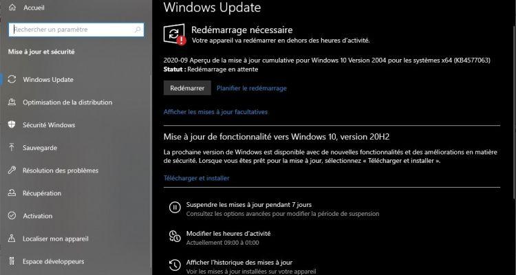 La mise à jour KB4598298 est dispo sur Windows 10 avec un beau lot de correctifs