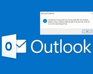 """Outlook : contourner l'erreur """"un problème avec votre fichier de données"""""""