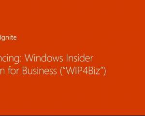 WIP4Biz : Windows Insider se décline dans une formule pour les entreprises