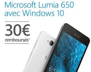 [MAJ] [Bon plan] Jusqu'à 30€ de remboursés pour l'achat d'un Lumia 650 et 550
