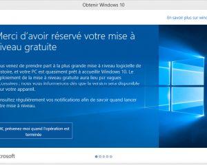 Je n'ai pas l'icône « Obtenir Windows 10 » dans la barre des tâches, pourquoi ?
