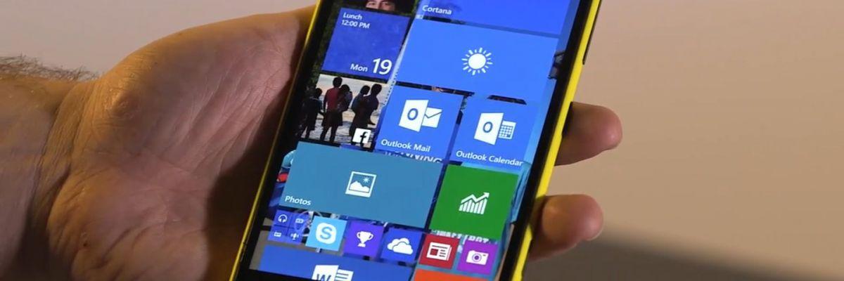 Nouvelle mise à jour mineure pour Windows 10 Mobile (Windows Insider)
