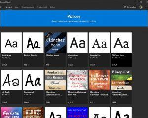Comment installer des polices de caractères sur Windows 10 ?
