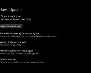 Erreur 0x80073701 / 0x800f0982 avec la dernière mise à jour de Windows 10