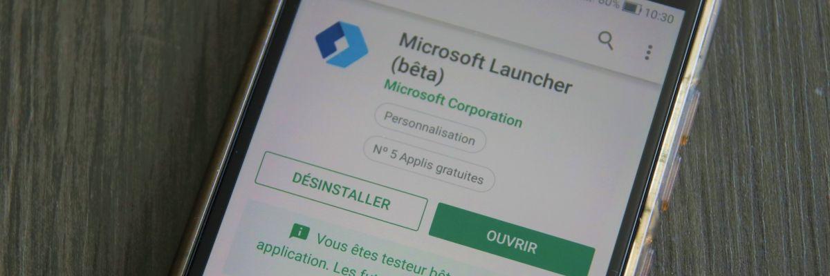 Nouvelle version de Microsoft Launcher pour Android