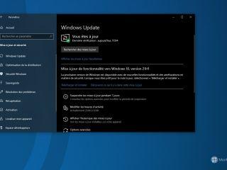 La mise à jour de fonctionnalité vers Windows 10, 21H1 est dispo. Quoi de neuf ?