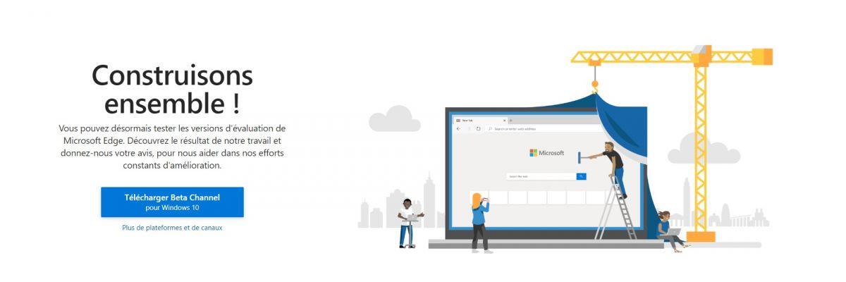 La version Beta de Microsoft Edge Chromium est disponible !