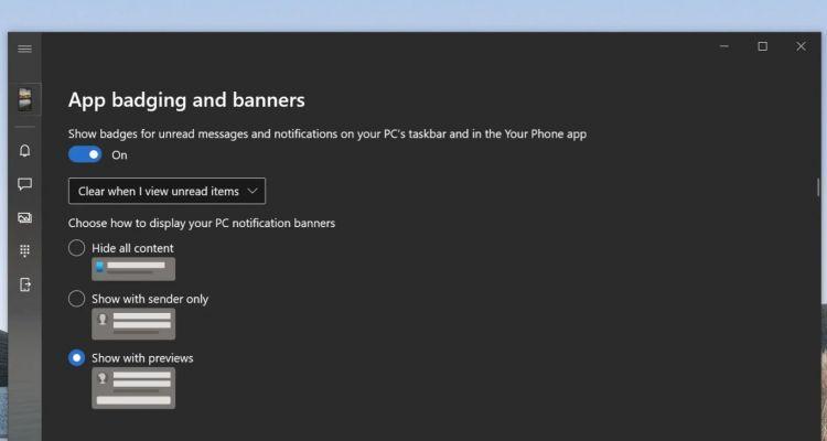 Un meilleur contrôle des notifications dans l'application Votre Téléphone