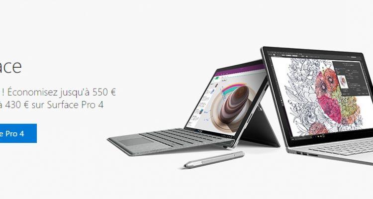 15% de réduction sur le Microsoft Store pour Surface