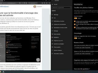 Comment diviser son écran en deux sur Windows 10?