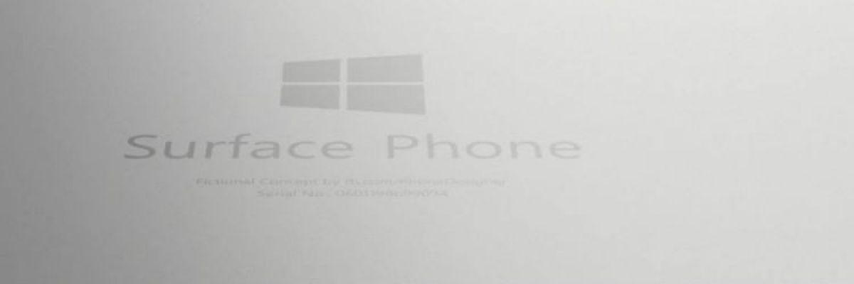 [Big rumeur] Surface Phone : quelques caractéristiques et le prix supposé