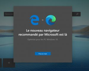 Le nouvel Edge commence à s'installer automatiquement sur Windows 10