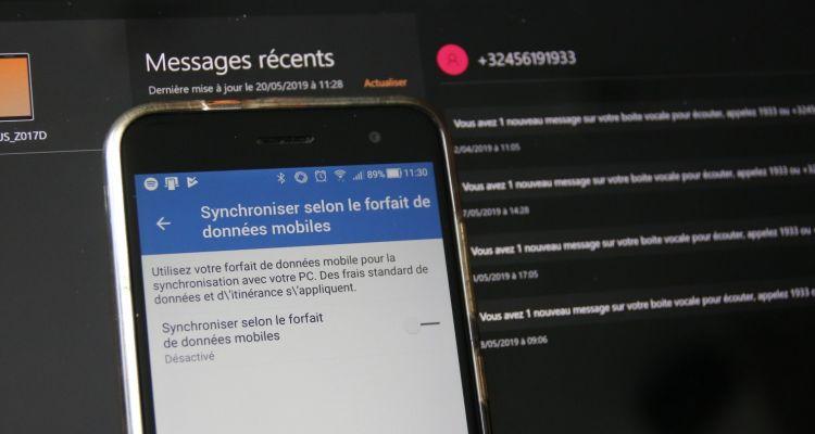 Your Phone : vous pouvez synchroniser les SMS Android sur Windows 10 via la 4G