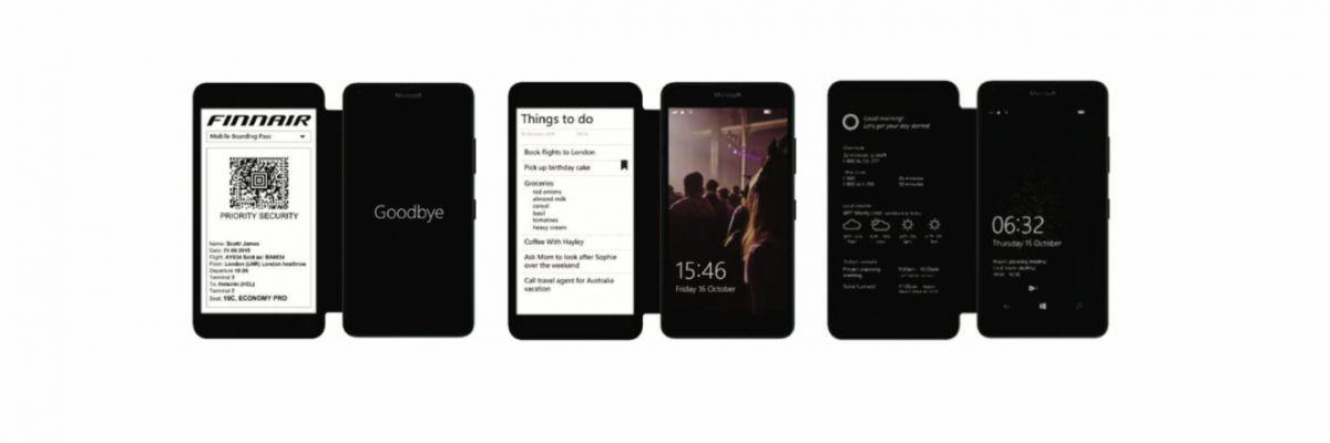 Microsoft avait déjà prototypé un Windows Phone à deux écrans (ou presque)