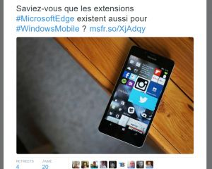 Windows 10 Mobile : Windows France annonce par erreur les extensions pour Edge