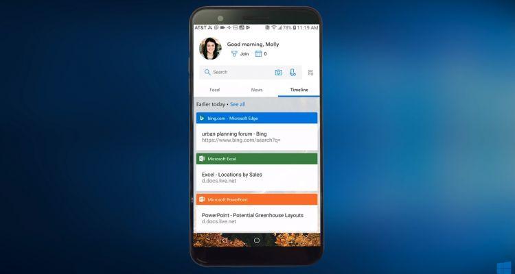 Microsoft Launcher passe en version 5.0 et intègre la Timeline Windows