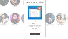 Groove Musique profitera d'un mini-lecteur sur Windows 10