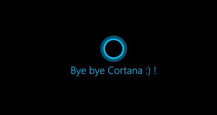 Comment désinstaller complètement Cortana sur Windows 10?
