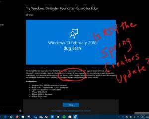 """""""Spring Creators Update"""", le nom de la prochaine mise à jour de Windows 10 ?"""