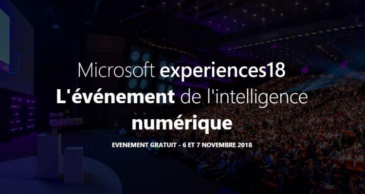 Microsoft experiences18 se tiendra le 6 et 7 novembre à Paris