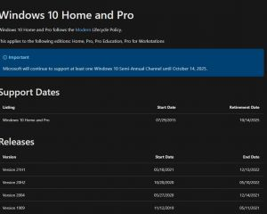 La fin du support de Windows 10 en 2025… était déjà annoncé en 2015 !