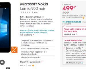 [Bon plan] Le Lumia 950 à 499€ chez Sosh suite à une offre de remboursement