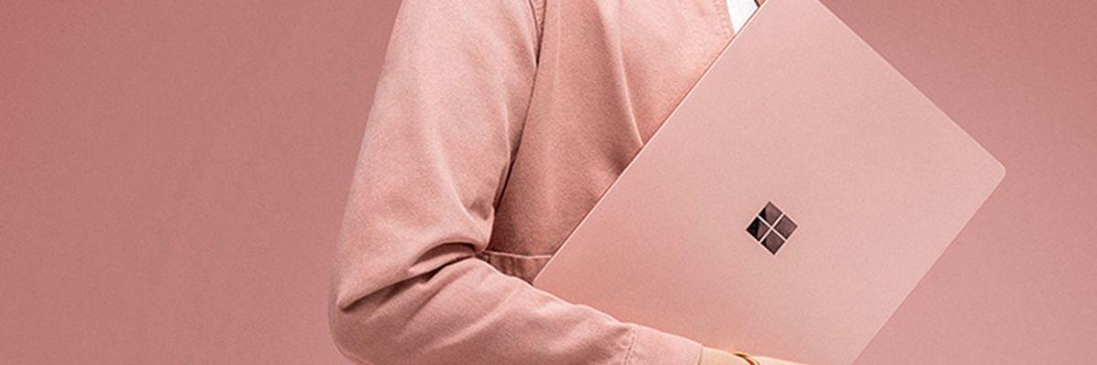 Une version rose pour le Surface Laptop 2 en Chine
