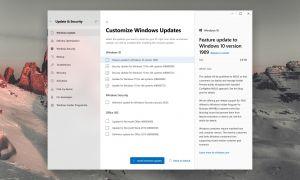Windows Update : concept d'une interface beaucoup plus claire sur Windows 10