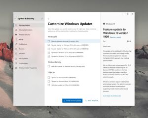 Windows Update : concept d'une interface beaucoup plus claire sur Windows 10