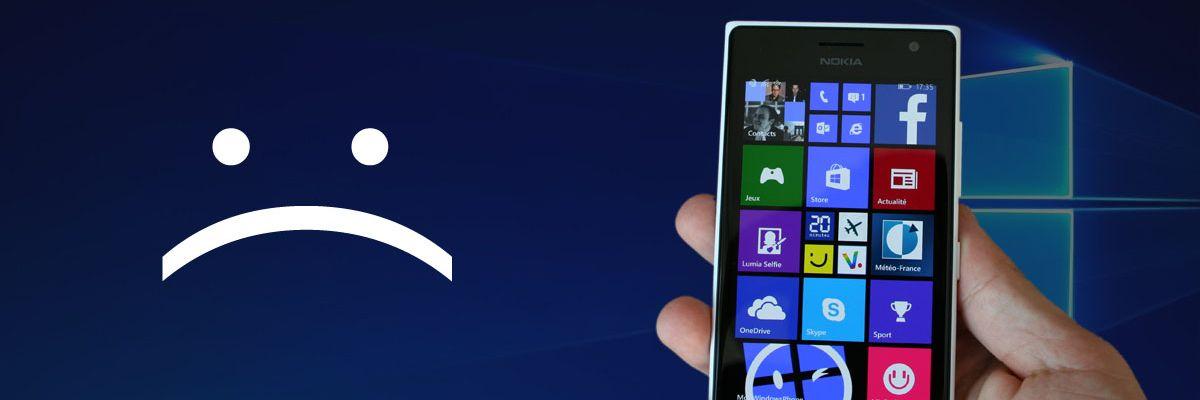 De nombreux Lumia sont bien écartés des mises à jour Windows 10 Mobile