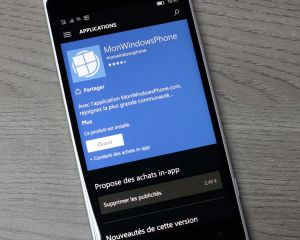 Mise à jour de l'application MonWindowsPhone en version 4.1