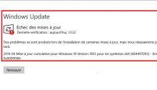 Windows 10 : résoudre les erreurs 0x80073701 et 0x800f0988 sur Windows Update