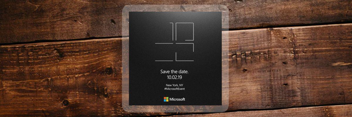 À vos agendas : Microsoft tiendra un événement Surface le 2 octobre prochain !
