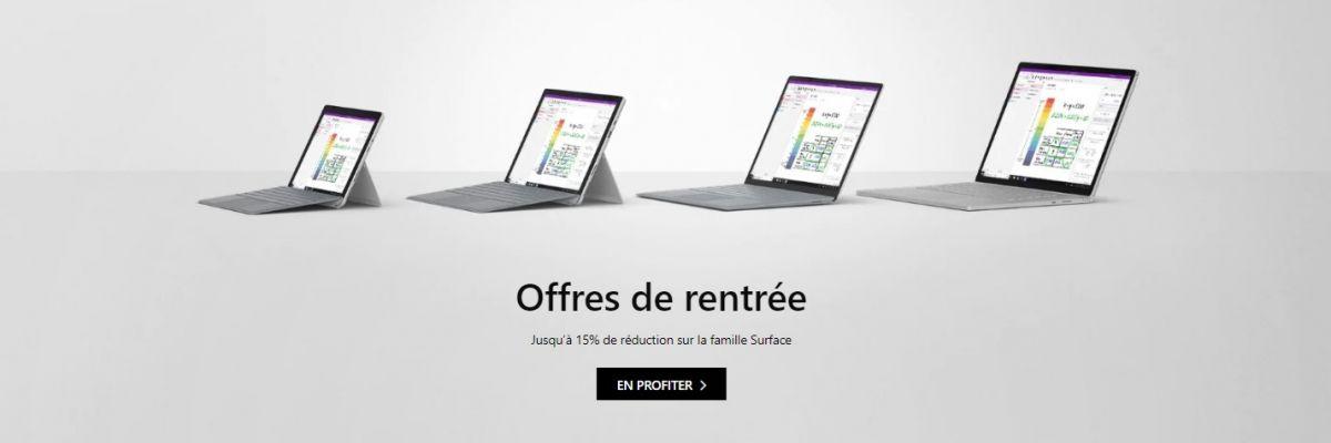 Offres de rentrée : Surface Pro 6, Laptop 2, Book 2, Go en réduction
