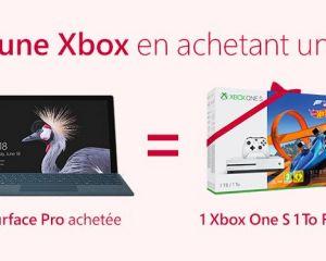 [Bon plan] Une Xbox One S offerte à l'achat d'une Surface Pro